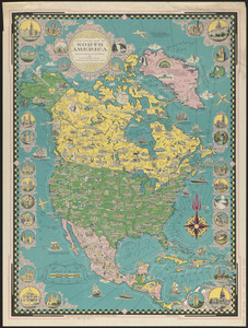 A pictorial map of North America