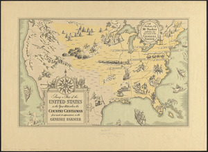 Being a map of the United States in the year 1831 when the Country Gentleman first made its appearance as the Genesee Farmer