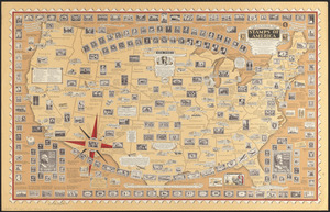 The pictorial map, stamps of America