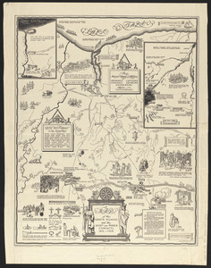 A map of the Seneca villages and the Jesuit and French contacts 1615-1708