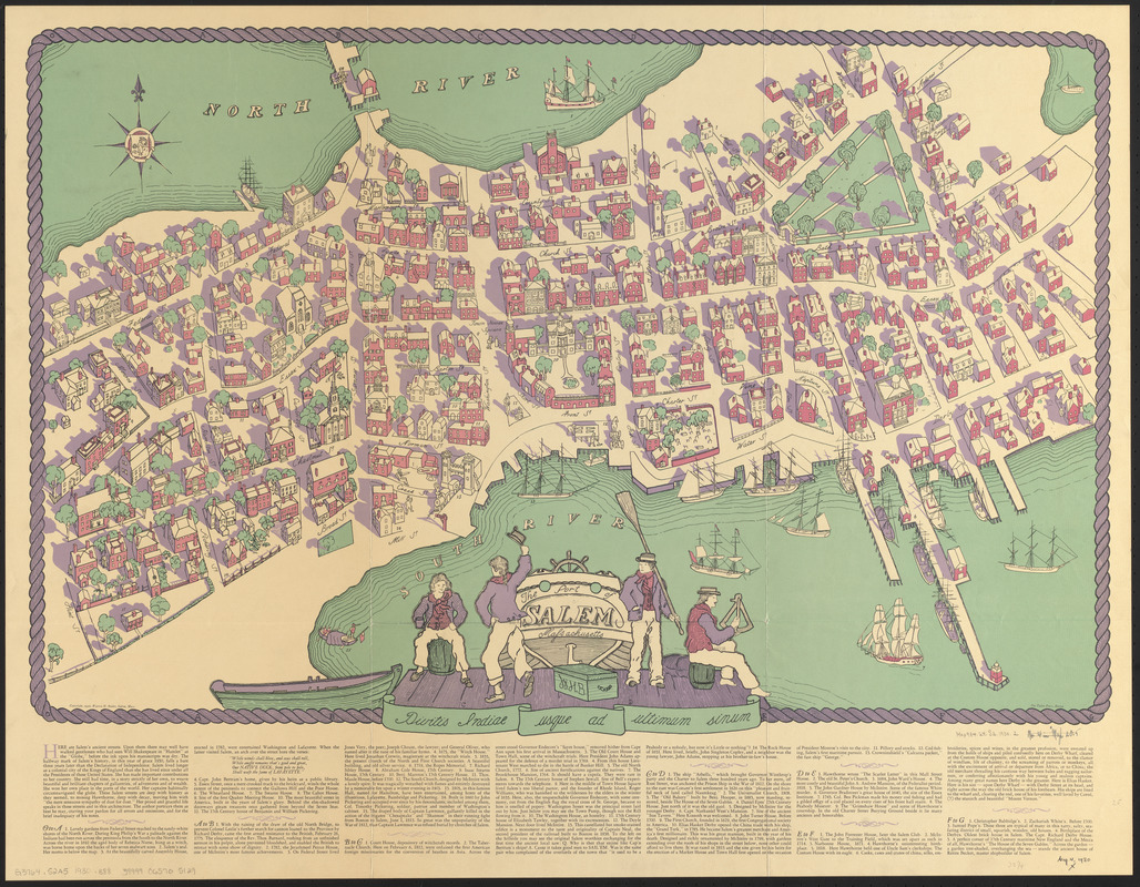 Map Of Salem Ma History by the Sea | Salem, Massachusetts: Resource Guide   Maps