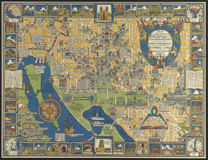 Map of the city of Washington in the District of Columbia shewing the architectvre and history from the most ancient times down to the present