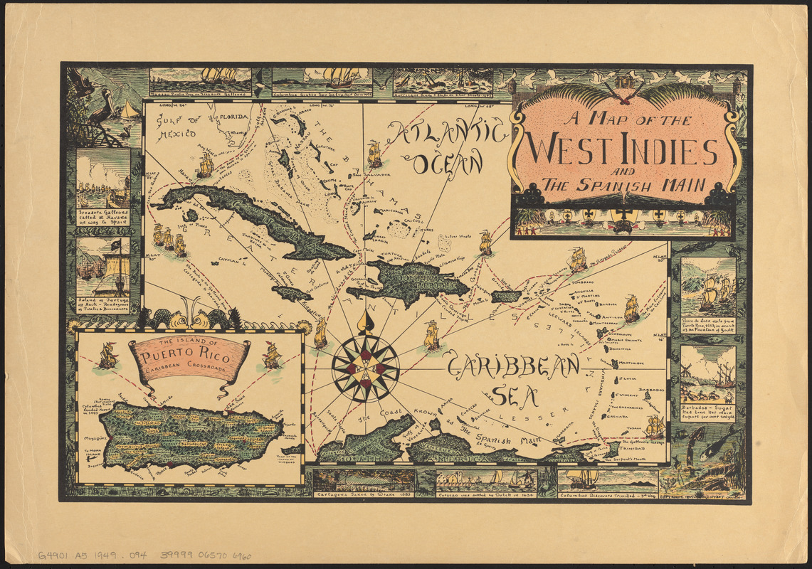 A map of the West Indies and the Spanish Main - Norman B. Leventhal ...