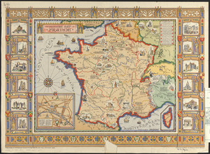 The picture map of France