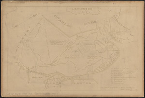 Plan of Boston in 1630 and 1900
