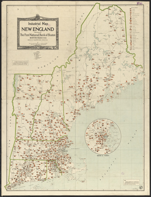 Industrial map of New England - Norman B. Leventhal Map & Education ...