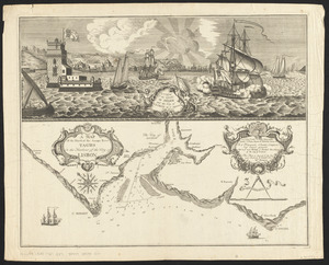 A view of the castle of Belem and the city of Lisbon as it appears from thence ; A map of the mouth of the famous river Tagus or the harbour of the city of Lisbon
