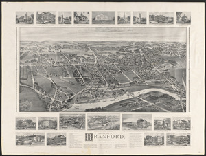 Bird's-eye view of Branford, Connecticut