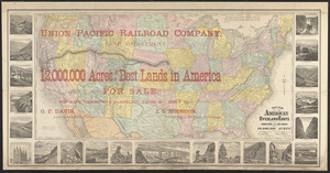 New map of the American overland route showing its connections, and land grants of 30,000,000 acres