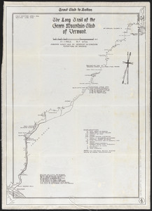 The Long Trail of the Green Mountain Club of Vermont