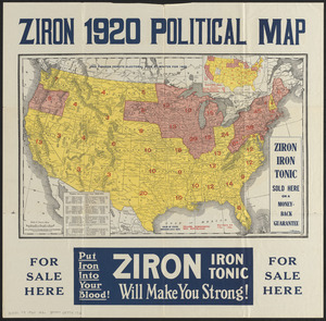 Ziron 1920 political map