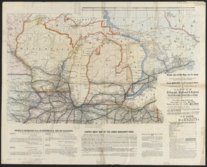 Lloyd's telegraph, railroad & express map of the whole United States & Canadas, from official information