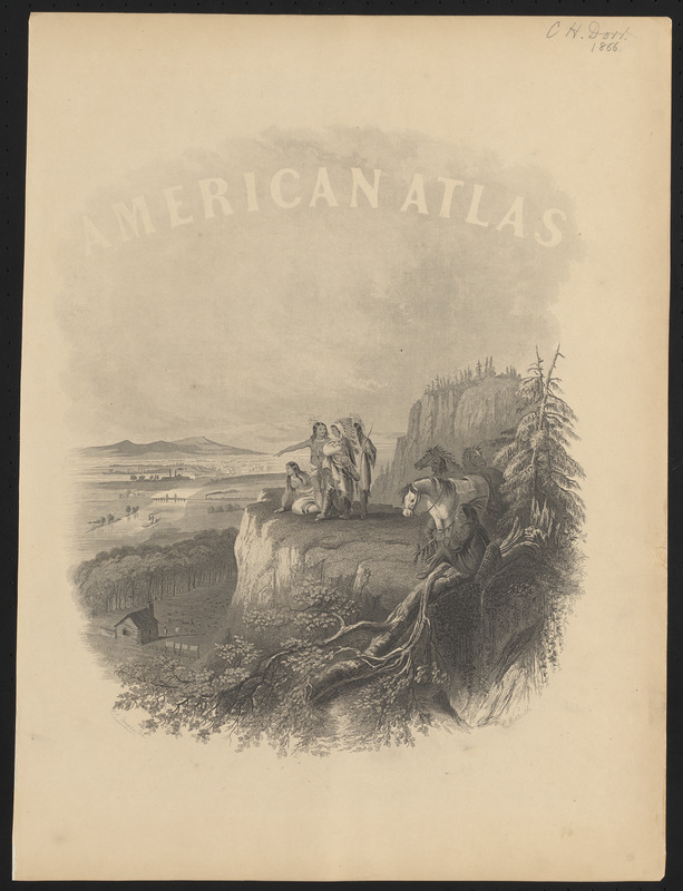 Johnson's new illustrated family atlas of the world, with physical geography, and with descriptions geographical, statistical, and historical, including the latest federal census, and the existing religious denominations in the world [frontispiece]