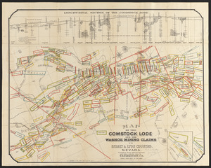 Map of the Comstock Lode and the Washoe mining claims in Storey & Lyon counties, Nevada