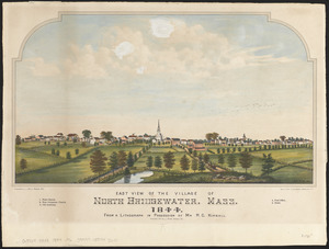 East view of the village of North Bridgewater, Mass, 1844