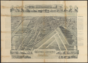 View of Whitman and Brockton, showing location of some of the most desirable building lots, for sale by W.V. Everson, 120 Boylston St. Boston
