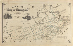 Map of the city of Somerville