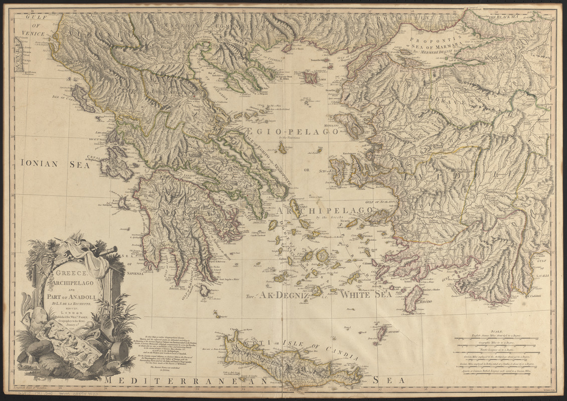 Greece, Archipelago and part of Anadoli