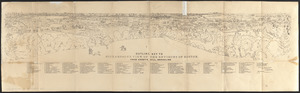 Outline key to Richardson's view of the environs of Boston from Corey's Hill, Brookline