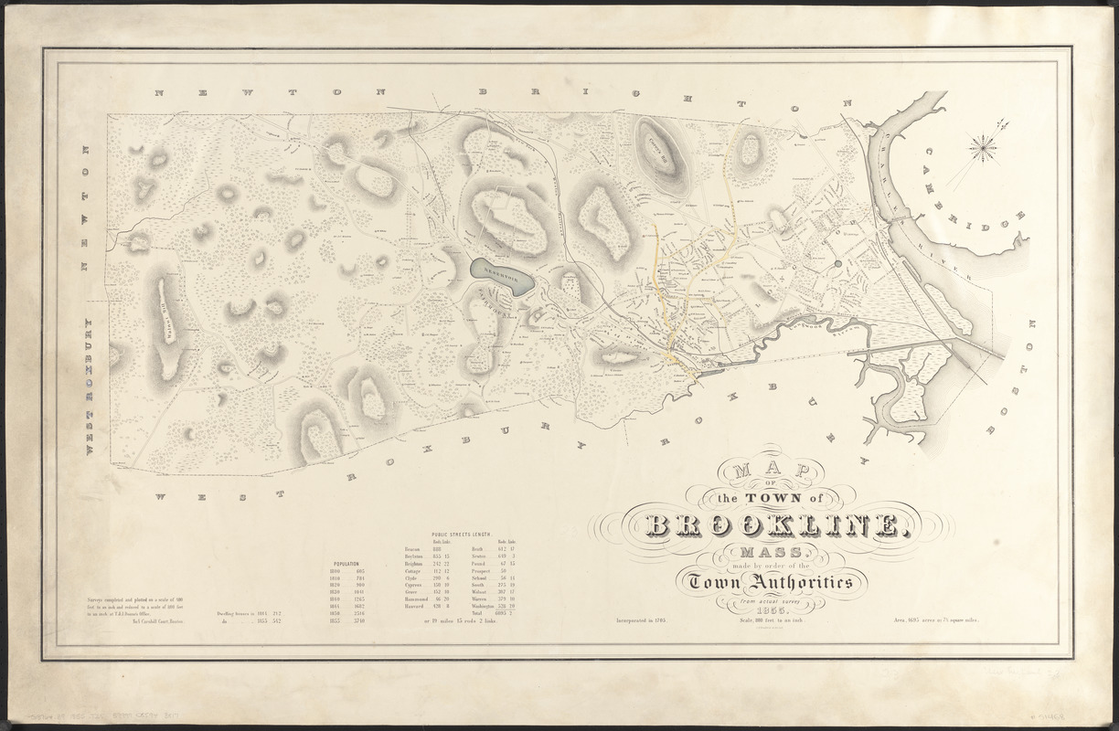 Map of the town of Brookline, Mass.