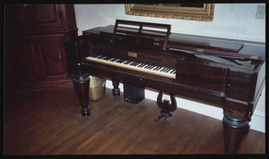 1830 Chickering piano, in Whipple family and Patch, now in Topsfield Town Hall