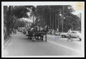 Parade, Red Top Farm entry, work horses, Arthur S. Hulbert, Town Farm Road, Ipswich