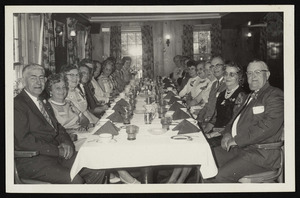 Anniversary celebration, reunion class of 1925 H.H.S at the Marguery in Ipswich