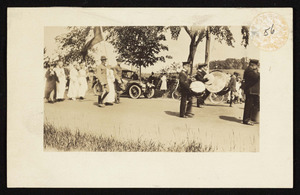 July 4th 1918, parade on Bay Road, opposite Myopia Polo Field
