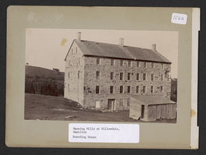 Manning Mills at Willowdale, Hamilton, boarding house