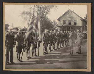 Augustus P. Gardner Post 194 American Legion, Depot Square, So. Hamilton, Mass., start of Memorial Day exercises, about 1925