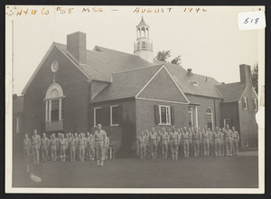 At Community House Headquarters, first group photo after March 17th 1942 enlistment start