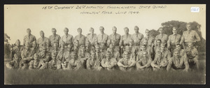 15th Company, 24th Infantry Massachusetts State Guard, Hamilton, Mass., June 1944