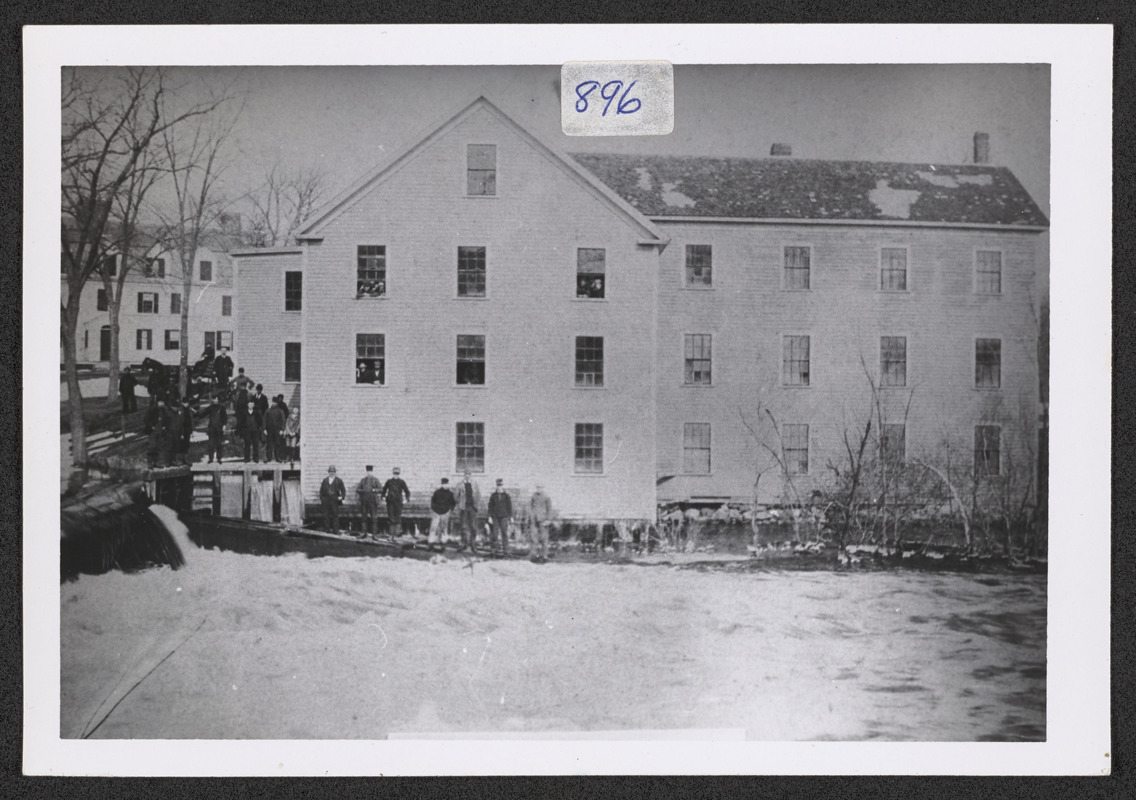 1860 Norwood's Mills at Ipswich River, Highland St.