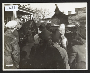 Reenactment of trek to Ohio, Bay Road, 1937