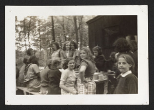 Hamilton Troop 1 Girl Scouts, camping