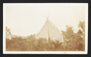 Our tent at Derry N.H., July 1933