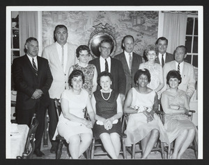 Hamilton High School Class of 1937, 25th reunion, 1962, taken at Town Line House, Lynnfield MA