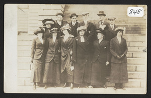Class of 1913 on a trip to Washington D.C. with chaperones, Mr. and Mrs. Peterson