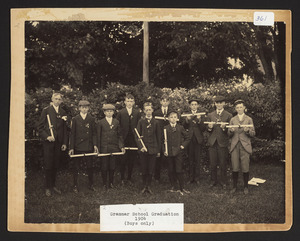 1904 Graduating Class, Hamilton Grammar School, North, on the town hall grounds