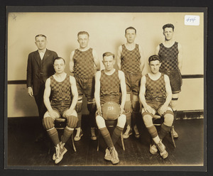 Augustus P. Garnder Post 194 American Legion, basketball team, 1924-1928, champions of Essex County
