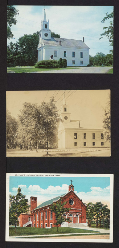 Cong. Church, Soldiers green, St. Paul's Catholic Church, Hamilton, Mass.