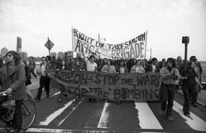 """Attica Brigade"" anti-war march at MIT, Cambridge"