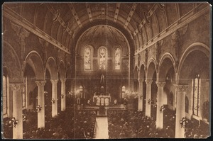 Interior of Catholic church in New Bedford, MA