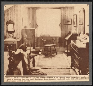 Bedroom in the Leonard house, New Bedford, MA