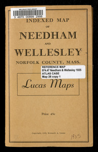 Indexed map of Needham and Wellesley, Norfolk County, Mass.