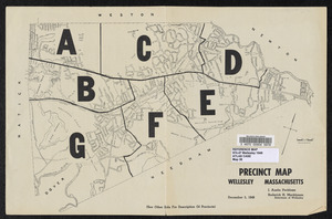 Precinct map, Wellesley, Massachusetts
