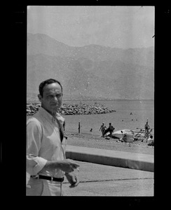 Unidentified man at the shore, Eilat, Israel