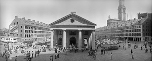 Faneuil Hall Marketplace under renovation, Boston