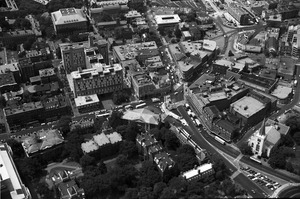 Harvard Square and Massachusetts Avenue (aerial shot), Cambridge