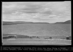 Quabbin Reservoir, looking northerly from the Administration Building, water elevation 520.02, Quabbin Reservoir, Mass., Aug. 27, 1945